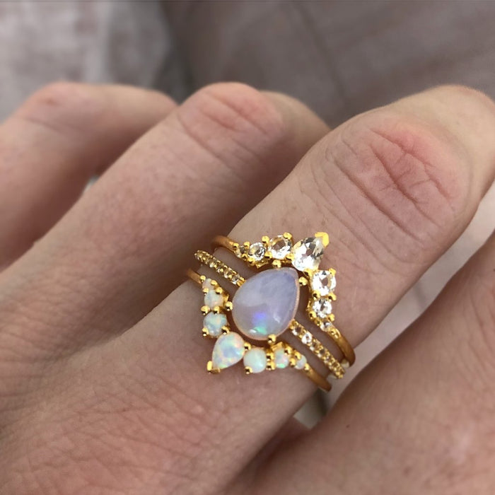 Le Marais - Opal Topaz Stacking Rings