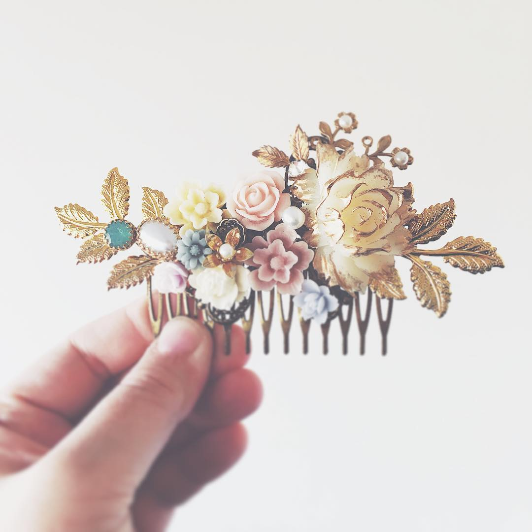 Jasmine - Pastel Wedding Hair Comb