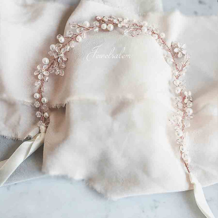 Giselle - Pearl Hair Vine Bridal Headpiece