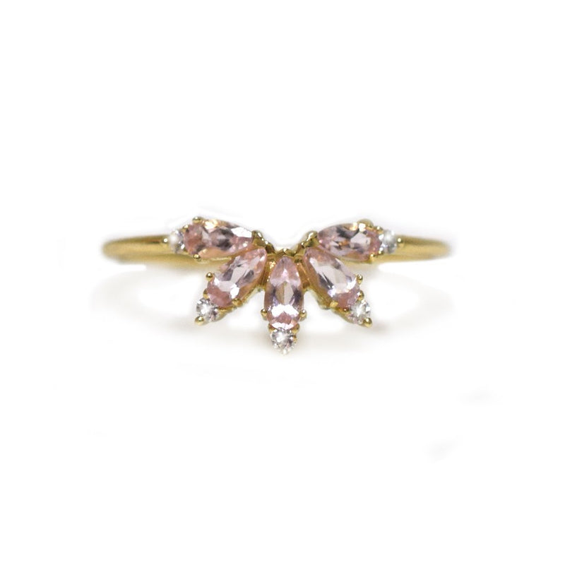 St Germain - Petal Morganite Gold Ring