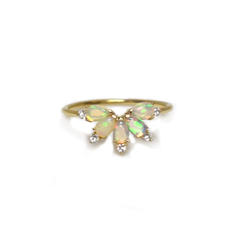 St Germain - Petal Opal Gold Ring
