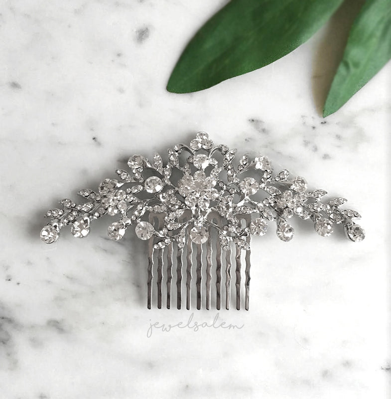 Kelly - Sophisticated Rhinestone Bridal Hair Comb