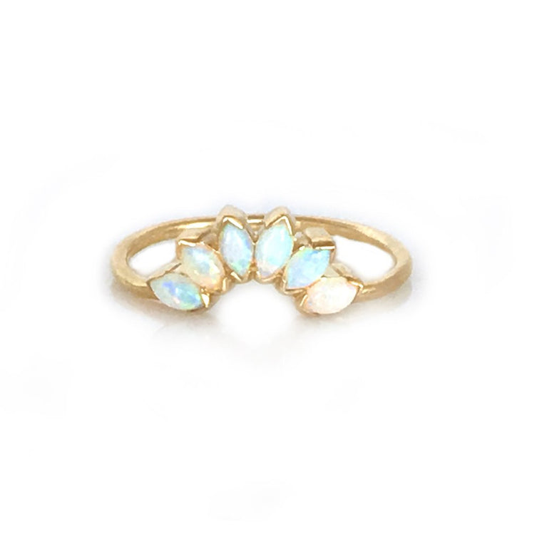 Rialto - Arch Opal 14K Gold Stacking Ring