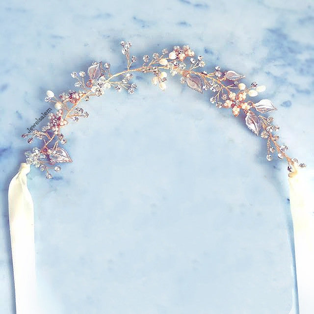 Giselle - Golden Hair Vine Bridal Headpiece