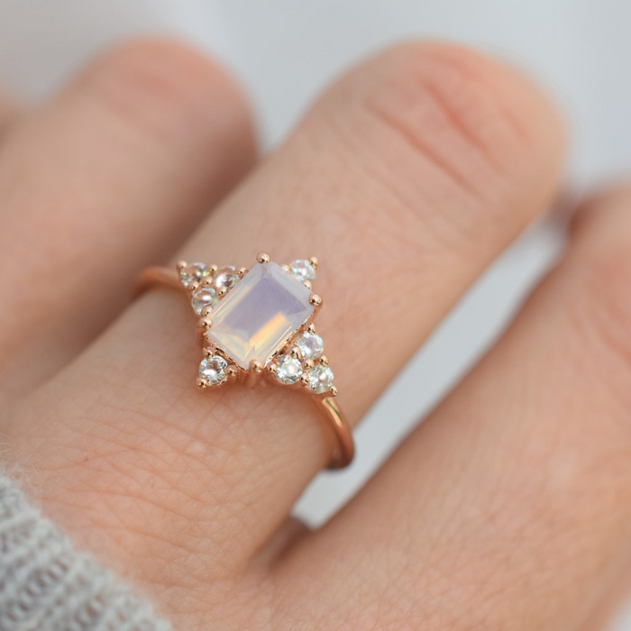 Northstar - Rose Gold Lilac Quartz Ring