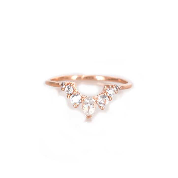 Blush Angel - Topaz Arc Ring