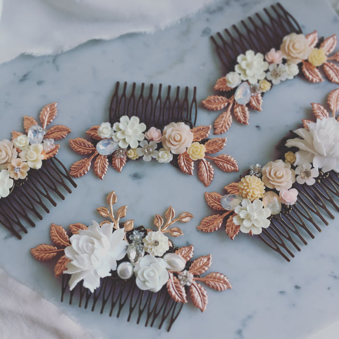 Sophia - Rose Gold Wedding Hair Comb (Limited Edition)