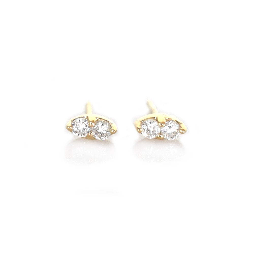 Solar Deux - Diamond Stud Earrings