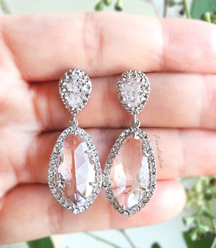 Alexis - Cubic Zirconia Earrings - Jewelsalem  - 3