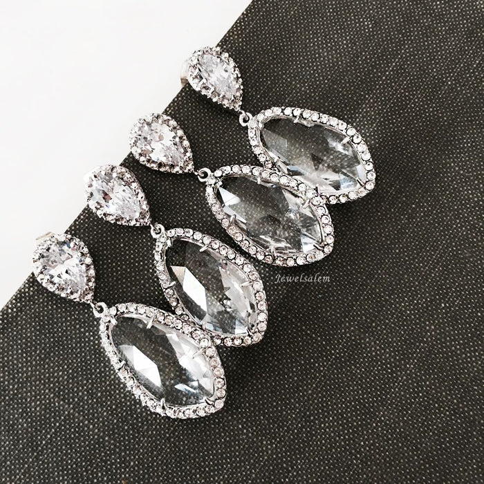 Alexis - Cubic Zirconia Earrings - Jewelsalem  - 4