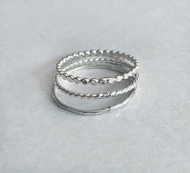 Sterling Silver Stacking Rings - Jewelsalem