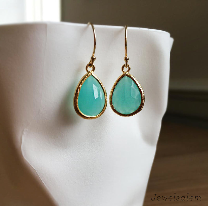 Turquoise Earrings 14k Gold Filled Dangle Earrings - Jewelsalem