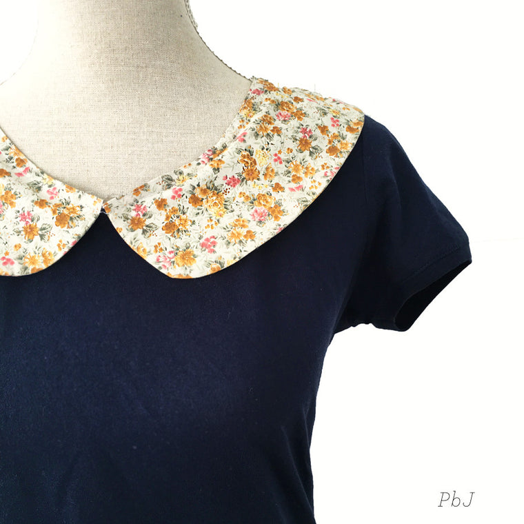 Aged Meadow Flower Navy Top