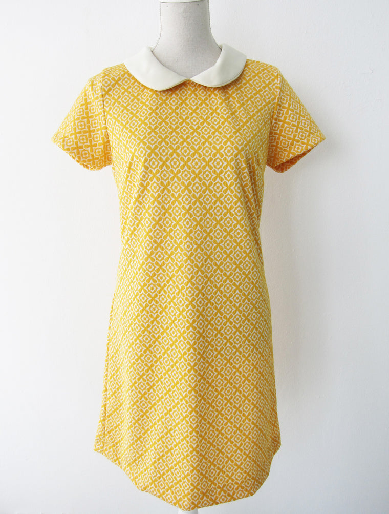 Preppy Yellow Peter Pan Dress