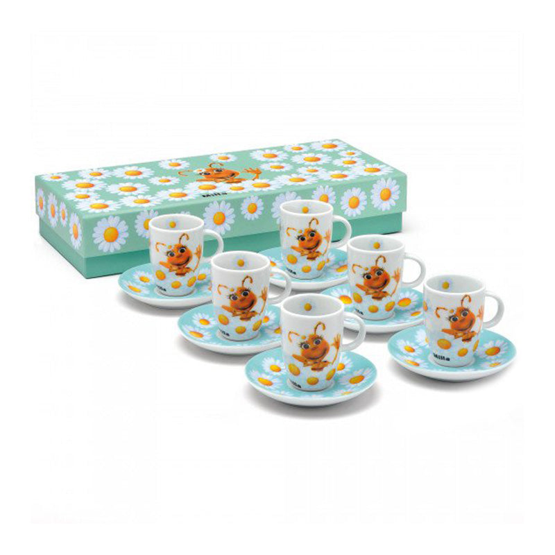 Set tazzine con piattino in porcellana Milla - 6 pz