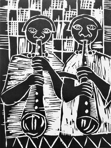 Mandindi, Billy: Flute Players