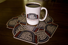 Barbell Shrugged Sticker                                                   (FREE SHIPPING!!!)