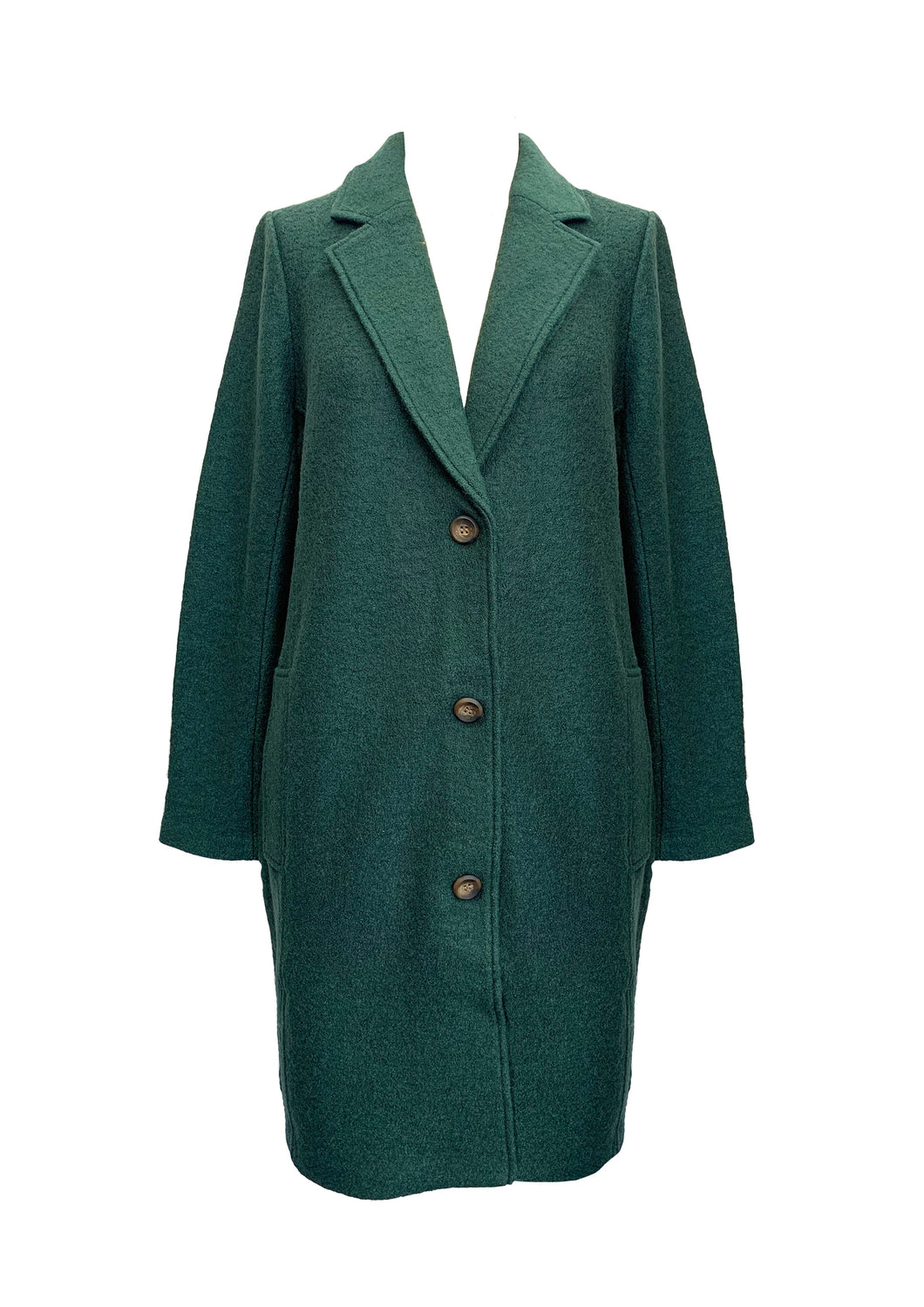 BOILED WOOL BLEND COAT