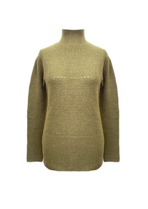 POINTELLE LINKS SWEATER KHAKI