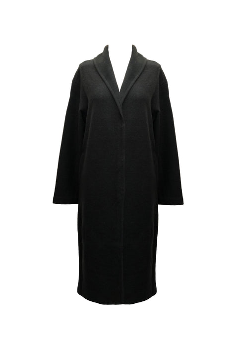 WOOL BLEND LONG CARDIGAN NAVY