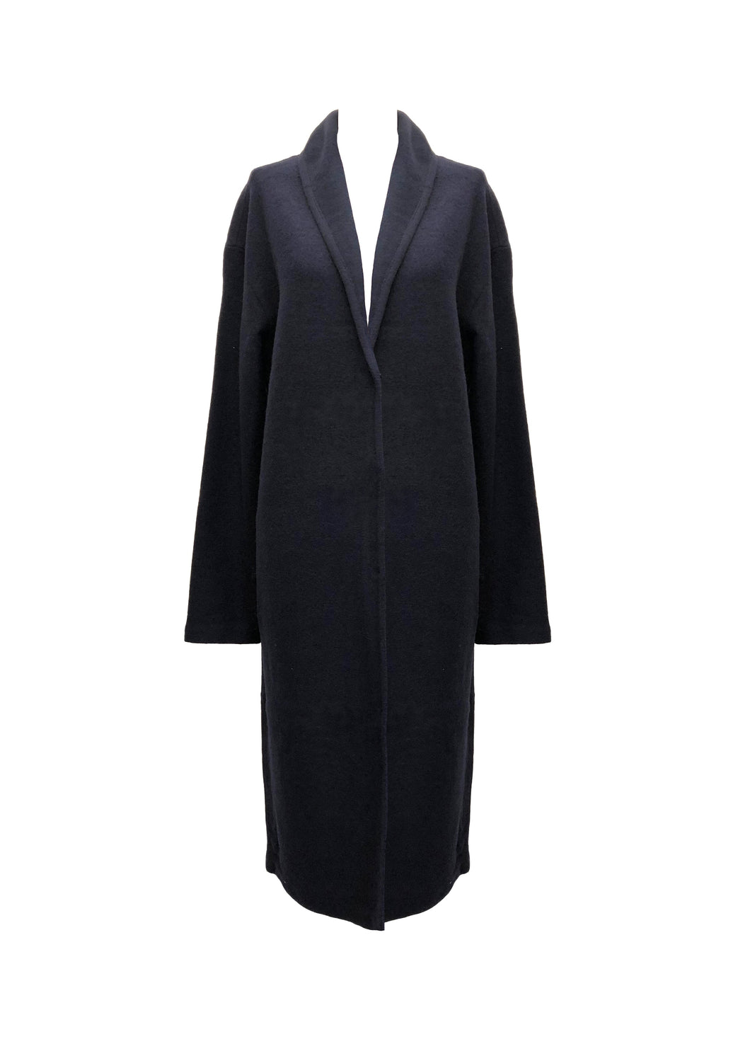WOOL BLEND LONG CARDIGAN  ANTHRACITE