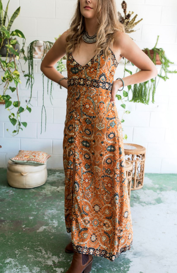 Wildflower bohemian Maxi Dress