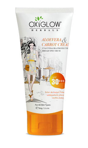Oxyglow Aloe vera and Carrot cream- SPF 30+++
