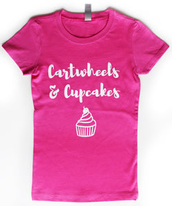"""Cartwheels & Cupcakes"" Girl's Tee"