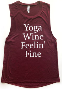 """Yoga Wine Feelin' Fine"""