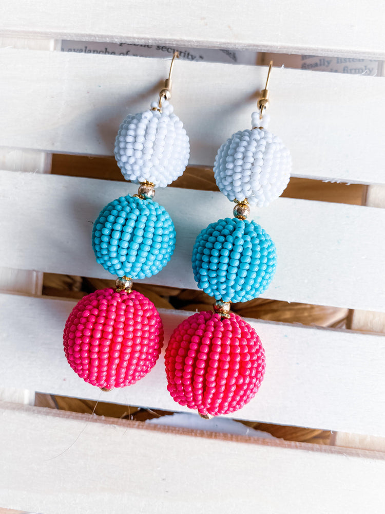 """Balls of Fun"" Beaded Earrings"
