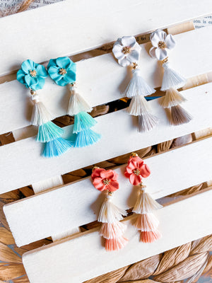 """Flower Girl"" Tassel Earrings"