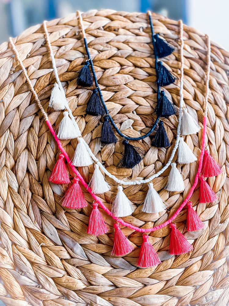 """Fun With Fringe"" Tassel Necklace"