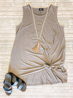 Load image into Gallery viewer, Basic Beauty Sleeveless Flowy Dress in Gray