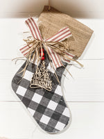"""Wooden Stocking"" Christmas Craft Kit"