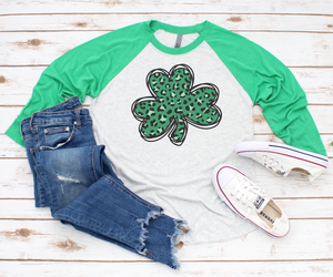"""ShamROCK"" RAGLAN SHIRT (Green)"