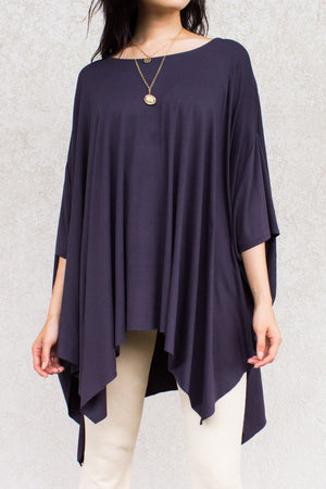 "Flowy Poncho Top in ""Cement"""