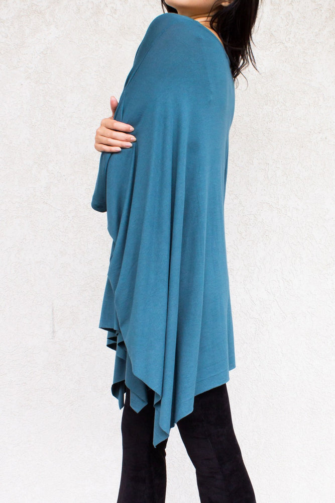 "Flowy Poncho Top in ""Jade"""