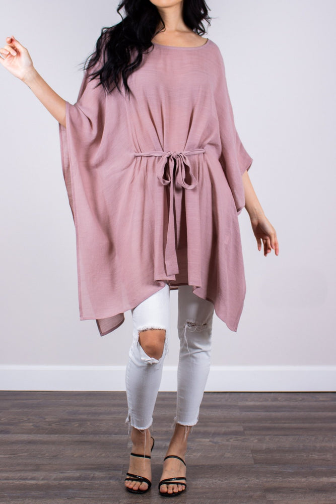 """Flowing in the Wind"" Tunic in Mauve"
