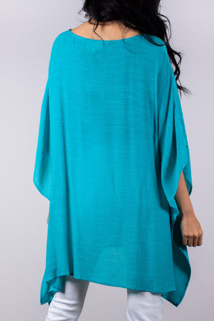 """Flowing in the Wind"" Tunic in Turquoise"