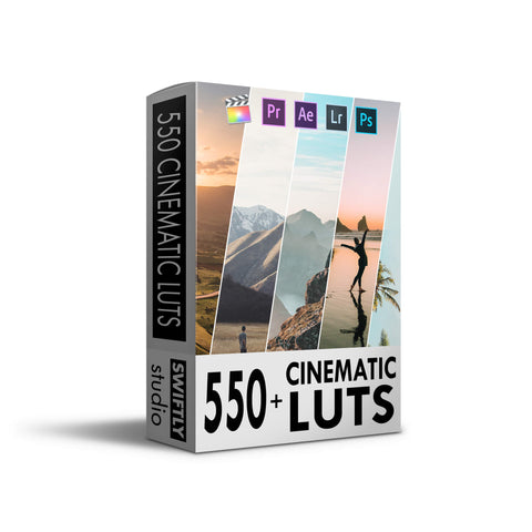 550+ Cinematic LUTS Pack!
