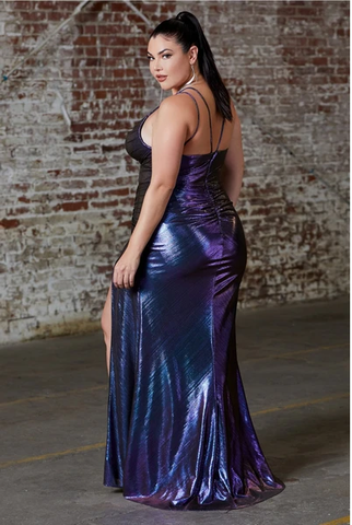 metallic Cinderella dress