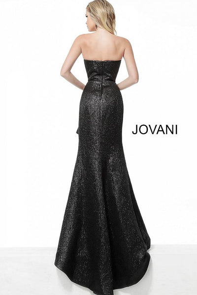 Black Strapless High Low Evening Jovani Dress 64140 - Elbisny