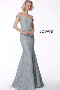 Sage Off the Shoulder Sweetheart Neck Evening Jovani Dress 65156 - Elbisny