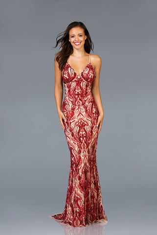 Scala Beaded Long Dress 48710 - Elbisny