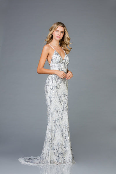Scala Beaded Long Dress 48710
