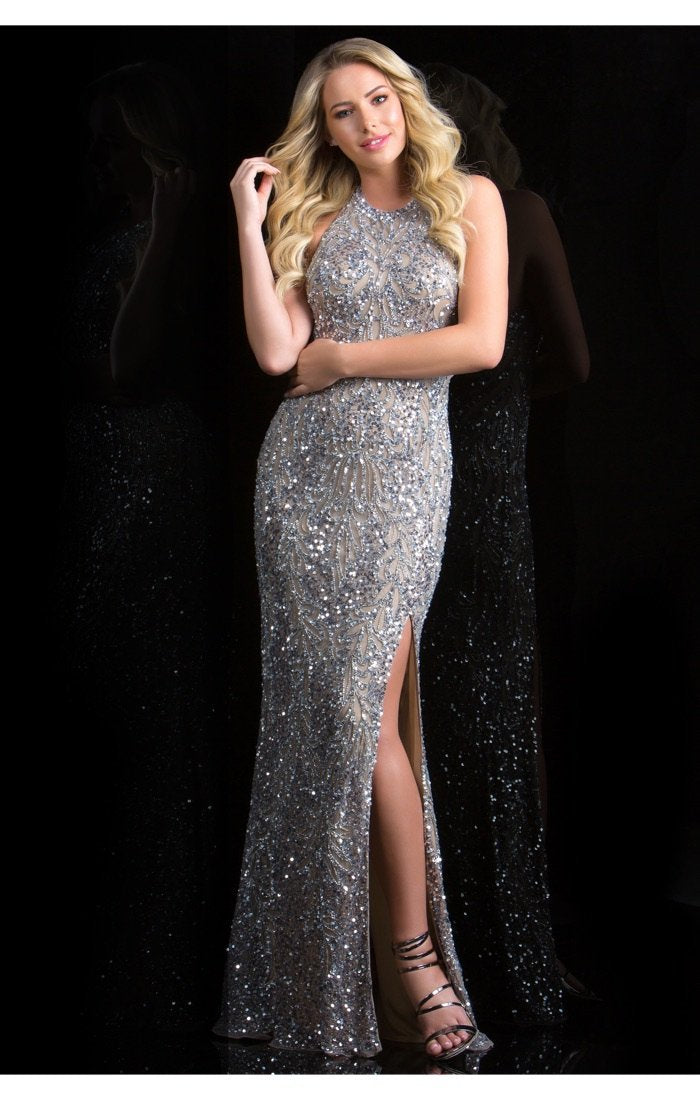 Scala Beaded Long Dress 48831 - Elbisny