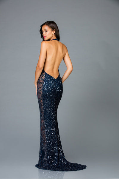 Scala Halter Top Fitted Dress 48959