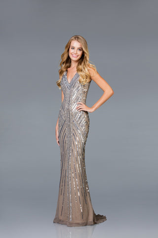 Scala Long Fitted Dress 48937 - Elbisny