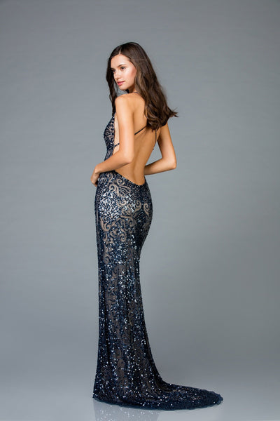 Scala Long Fitted Dress 48977 - Elbisny