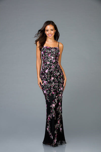 Scala Long Sequins Dress 48964 - Elbisny